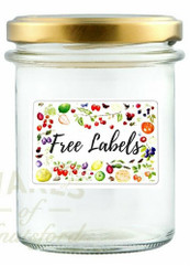 ** SPECIAL OFFER 36 x 212ml Bonta Jam Jars with lids + choice of FREE LABELS**