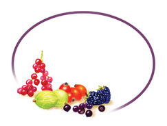 Grandma's Pantry - Oval White Berries Labels - Gooseberry,Blackberry, Redcurrants, Rosehips and more
