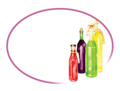 Grandma's Pantry - Oval White Bottles Labels - Suitable for Oils, Sauces, Cordials and More