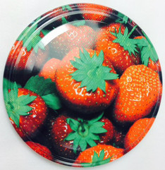 *SPECIAL OFFER* 66mm lids - Strawberry Design