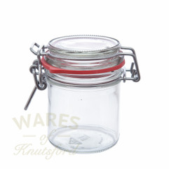 167ml glass clip top jar often used for gifts and wedding favours of chutney.