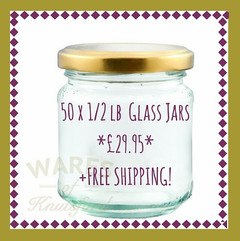 **SPECIAL OFFER** 50 x 1/2lb Glass Jars + FREE SHIPPING!