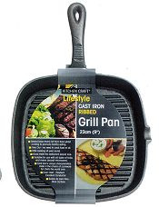 Deluxe Cast Iron Grill Pan Square