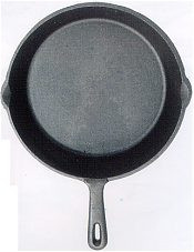 Deluxe Cast Iron Grill Pan Round