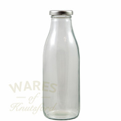 Wholesale Glass Milk Bottles - 750ml - with a choice of Gold Silver or Black Caps