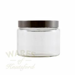 500ml Clear Glass Cosmetic Jar