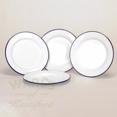 22cm Falcon Enamel Flat Plate (Set of 4)