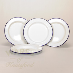 24cm Falcon Enamel Flat Plate (Set of 4)