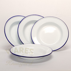 Falcon Enamel Soup Plate (Set of Four) 24cm