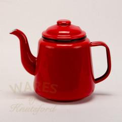 Falcon Enamel Tea Pot Red