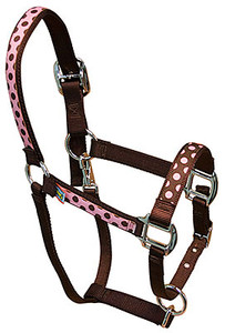Pink Brown Polka Equine Elite Halter