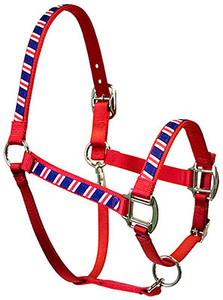 Red, White and Navy Equine Elite Halter