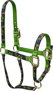 Neon Peace Signs High Fashion Horse Halter