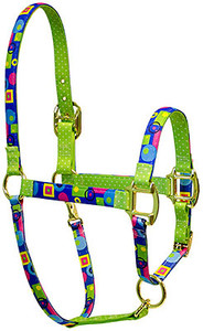 Blue Geometric High Fashion Horse Halter