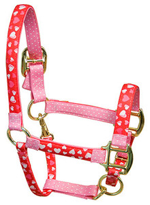 Red Hearts High Fashion Horse Halter