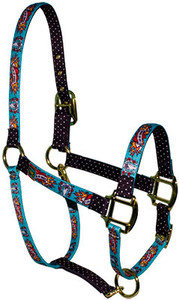 I Luv My Horse Blue High Fashion Halter For Miniature Horse