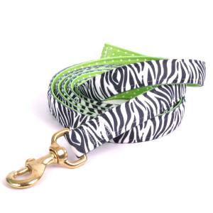 Black Zebra on Green Polka High Fashion Horse Lead