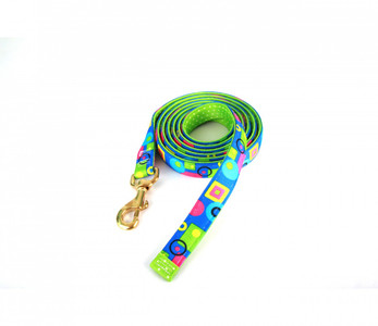 Blue Geometric High Fashion Horse Lead