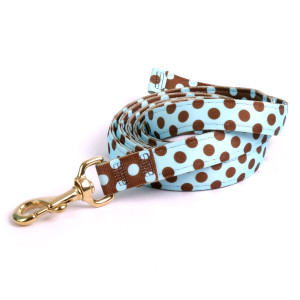 Blue & Brown Polka High Fashion Horse Lead