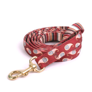 Burgundy Paisley High Fashion Horse Lead