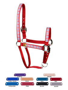 Personalized Name Plate American Daisy Equine Elite Halter