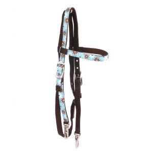 Daisy Chain Blue Headstall