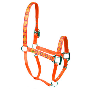 Orange Blocks Equine Elite Halter