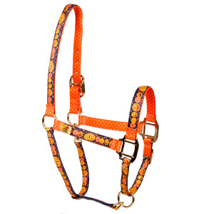 Pumpkin Party High Fashion Large Horse Halter