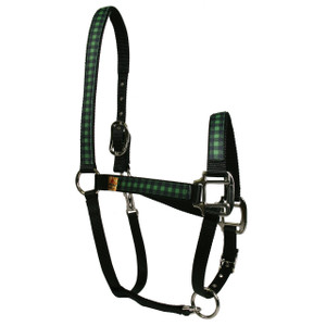 Buffalo Plaid Green Equine Elite Halter
