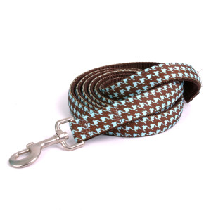 Houndstooth Blue and Brown High Fashion Horse Lead