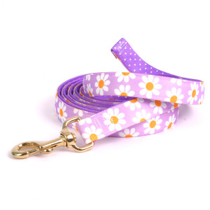 Lavender Daisy on Purple Polka High Fashion Horse Lead
