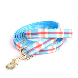 Madras Blue High Fashion Horse Lead