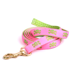 Pink and Green Skulls High Fashion Horse Lead