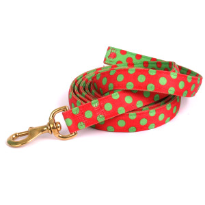 Red & Green Christmas Polka High Fashion Horse Lead