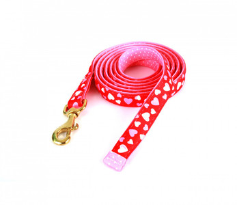Red Hearts High Fashion Horse Lead