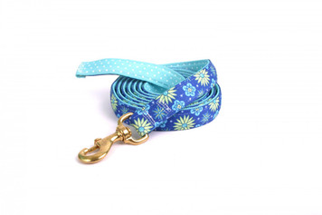 Teal Flowers High Fashion Horse Lead