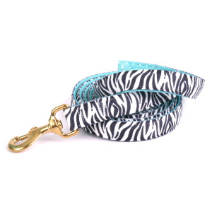 Zebra / Teal Polka High Fashion Horse Lead