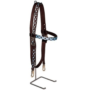 Blue & Brown Polka Headstall