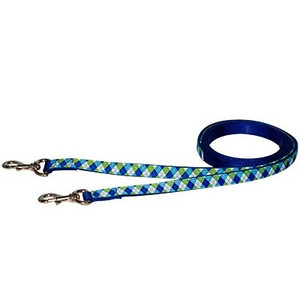Blue & Green Argyle Reins
