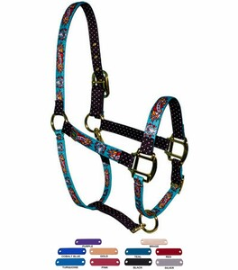 Personalized Name Plate I Luv My Horse Blue High Fashion Horse Halter
