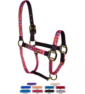 Personalized Name Plate I Luv My Horse Pink High Fashion Horse Halter