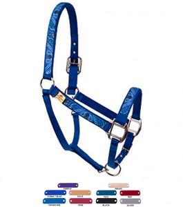 Personalized Name Plate Blue Bandana Equine Elite Halter