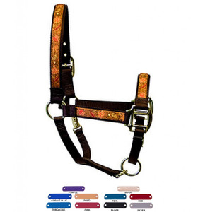 Personalized Name Plate Fall Leaves Equine Elite Halter