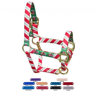 Personalized Name Plate Peppermint Stick High Fashion Horse Halter