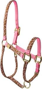 Giraffe Pink High Fashion Horse Halter