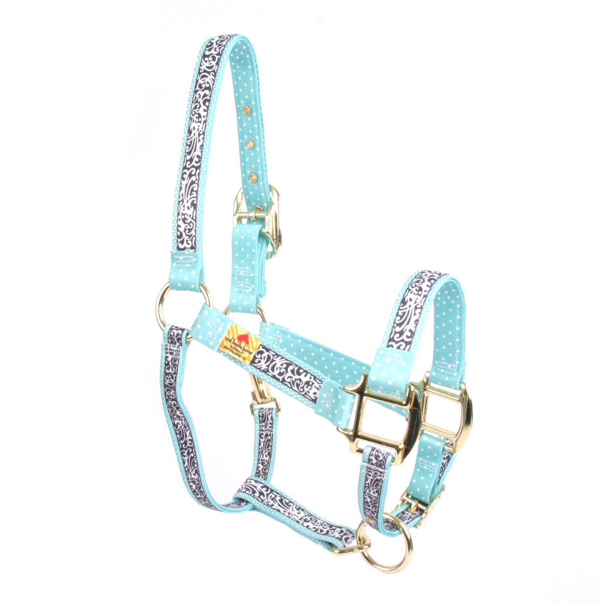 Chantilly Teal High Fashion Horse Halter Made In The Usa At Redhautehorse Com