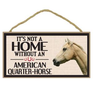 American Quarter Horse Wood Sign