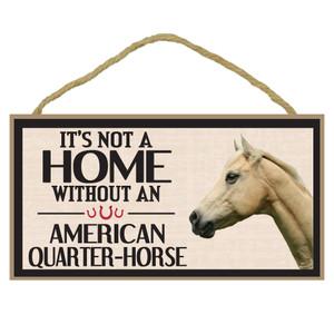American Quarter Horse Wood Sign