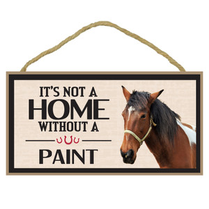 Paint Horse Wood Sign