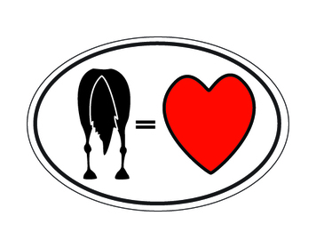 Horse Equals Love OVAL Magnet